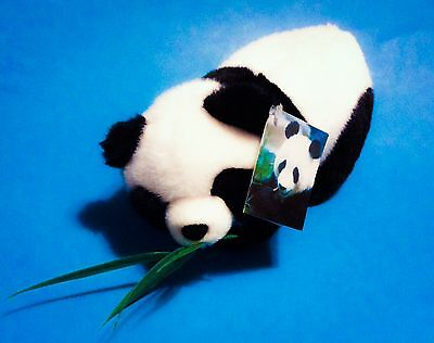 """AURORA BAMBOO The GIANT PANDA BEAR with LEAVES in MOUTH, Has TAGS 10"""" PLUSH ;-)"""
