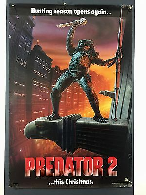 PREDATOR 2 Advance (VeryGood+) Rolled DS Movie Poster One Sheet 1990 Sci-Fi 5276