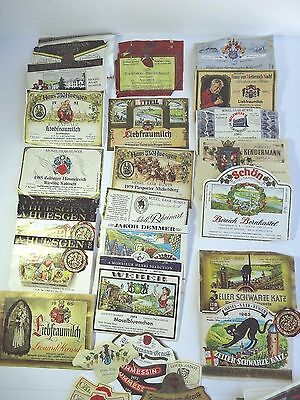 Vintage Wine Label Lot Mostly German 30+ 1960s - 1980s Katz Mosel 7 neck labels