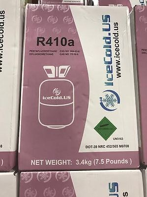 R410, R410a, 410, R0410a, Refrigerant, Net Weight 7.5 lbs., Air Conditioning