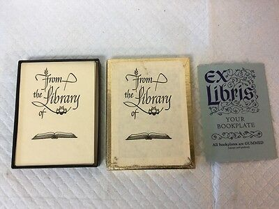 "Vintage Box Of 51 Antioch Bookplate Co ""From The Library Of"" Bookplates Perfect"