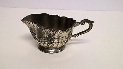 Antique Vintage Silver Plate 2 oz Creamer Pitcher Made in Occupied Japan