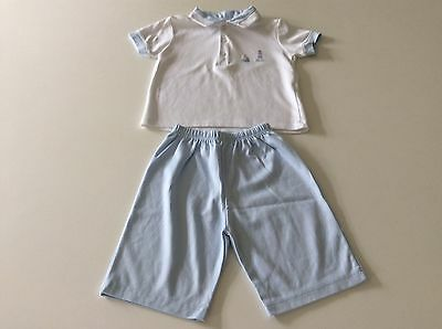 Kissy Kissy Boys Polo Shirt And Shorts 12-18 Months