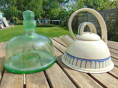 1780`s Sailing Ship Green Glass  Decanter