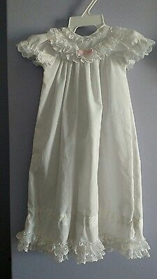 Vintage ALEXIS CHRISTENING BAPTISM GOWN DRESS White Lace 0-3 Months