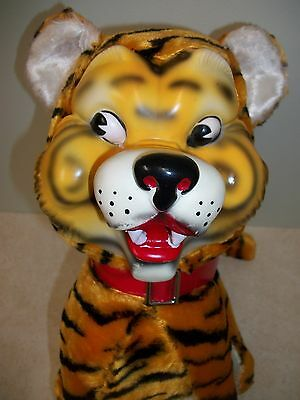 "Vintage 1950-60's ""MY TOY"" Rubber-Faced Tiger Stuffed Animal Plush: REALLY NICE!"