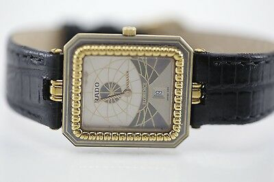 100% AUTHENTIC Rado Florence Stainless Steel Swiss Quartz Gold Tone Watch