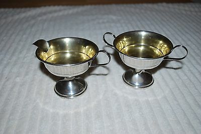 vintage sterling cream and sugar bowls