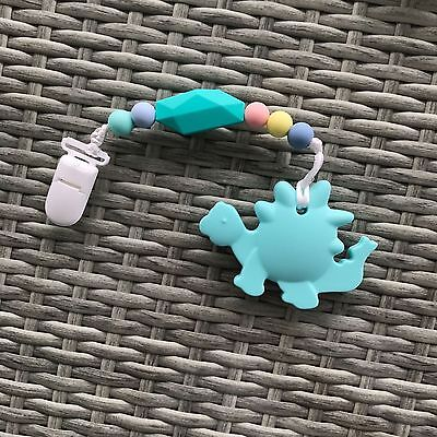 Silicone Sensory Baby Teether BPA-Free Pacifier Clip Nursing Accessories