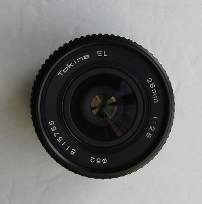 Tokina EL 28mm F2.8 Lens for Canon FD Mount Used