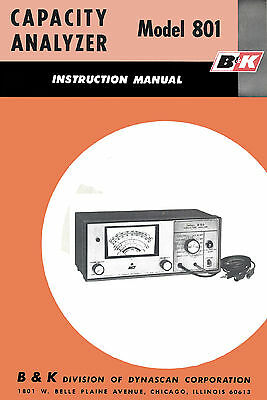 B&K 801 Capacity Analyzer Manual