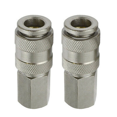 EURO Air Line Hose Compressor Fittings Connector Female Quick Release 2 PC 1/4""