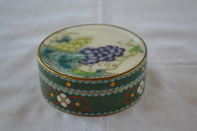 Unusual Cloisonne and enamel round box