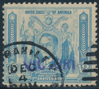 "Philippines #475 Vf Used ""victory"" Handstamped With Psag Cert Cv $400 Bt7885"