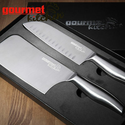 """Knife Set Kitchen Stainless Steel Cutlery 12"""" Japanese/Chinese Chef Knives"""