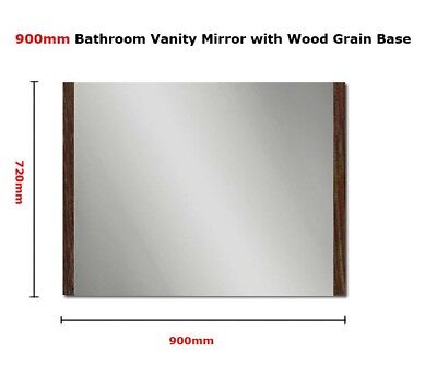 900mm x 720mm Vanity Bathroom Bedroom Shaving Mirror Wodden Base