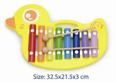 Wooden Toy Kids Duck Xylophone