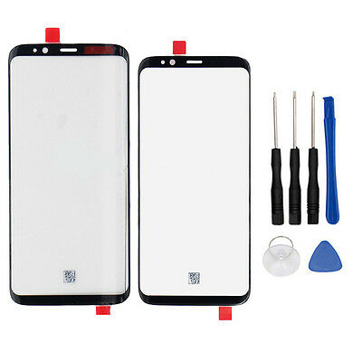 Front Outer Screen Glass Lens Black Replacement For Samsung Galaxy S8 S8 Plus