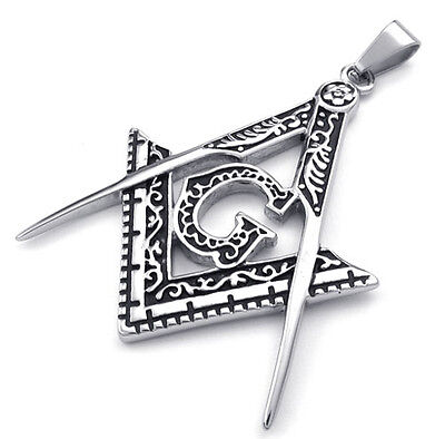 Stainless Steel Masonic Pendants Mason Freemasons PE2