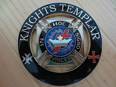Masonic Car Badge Emblems E8 Mason Freemason KNIGHTS TEMPLAR