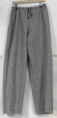 Mid Grey Stripe Renaissance Pirate Medieval Trousers Size M 34-36W LARP