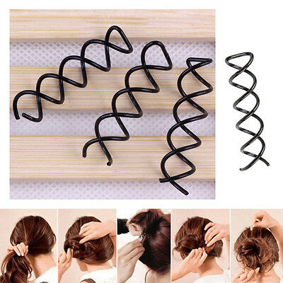10 Pcs Womens Hair Styling Spiral Spin Screw Bobby Hair Clip Pin Twist Barrette