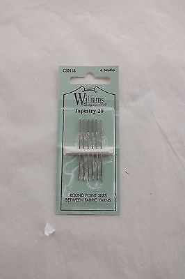 Williams Quality Hand Sewing -  Tapestry needlesSize 20 6 needle pack