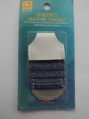 EZ Adjustable Quilters Leather Craft Thimble One size fits most