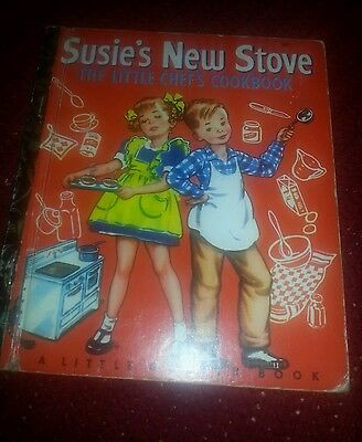 Susie's New Stove Vintage Little Golden Book Hardcover Rare