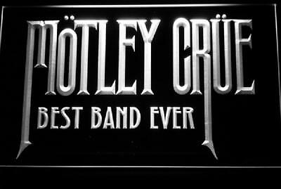 Best Band Ever Motley Crue WHITE LED Neon Sign with On/Off Switch **BRAND NEW**