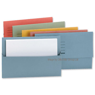 5 Star Cardboard Envelope Wallets Paper Folders-Fit A4/FoolScap.CHOOSE COL & QTY