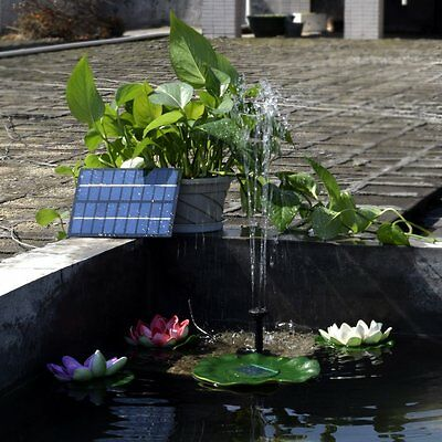 Solar Power Water Pump for Garden Pond Fountain / Submersible waterfall sump