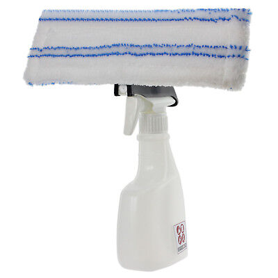 Spray Bottle Kit for Karcher WV70 Window Vacuum + Microfibre Vac Pad Cloth Cover
