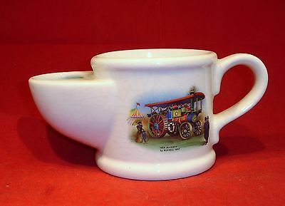Vintage Wade Shaving Scuttle Mug Traction Engine Her Majesty By Burrell 1897.