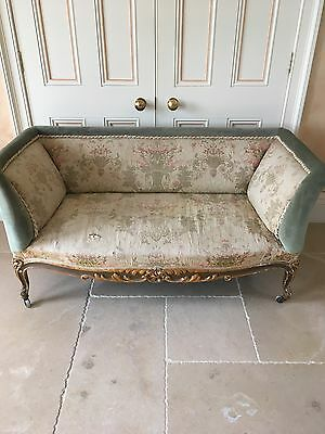 Extremely Beautiful Antique 19th C French Sofa Settee - Gesso & Carved Wood