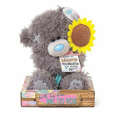 """Me To You Tatty Teddies Teddy Bear 7"""" Daughter With Sunflower - 4094"""