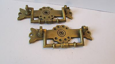 Pair of Aesthetic movement  Brass  drawer handles, Re claimed used condition.