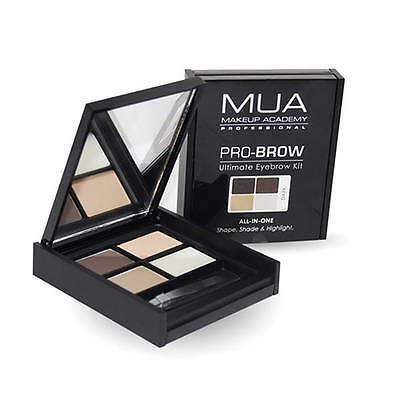 MUA Pro Brow Ultimate Eyebrow Kit Dark 5.9g New Sealed Authentic