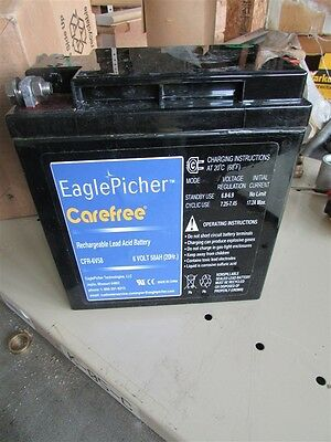 New Eagle Picher Technologies CFR-6V58 Care Free 6 Volt Battery D-17