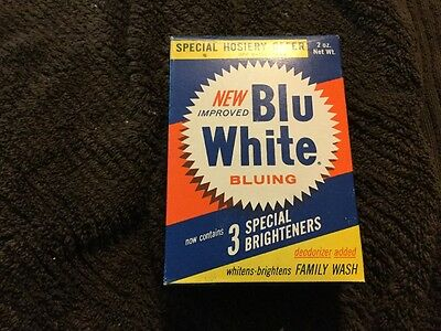 """""""New Blu White Bluing""""~Vintage 1940's~Unopened~ 2 Ounce box"""