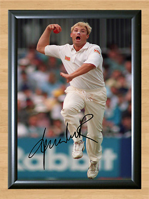 Shane Warne Cricket Signed Autographed A4 Poster Photo Print Memorabilia ball 2