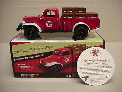 Texaco Regular Edition 2011 1946 Metal Dodge Power Wagon Stake Truck #28  S/o
