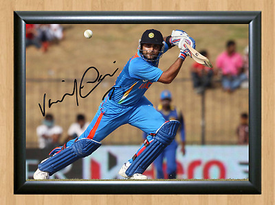 Virat Kohli Cricket Signed Autographed A4 Poster Photo Print Memorabilia bat 1
