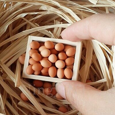 10x Tiny Loose Eggs Dollhouse Miniatures Food Supply Groceries Shop Deco Barbie