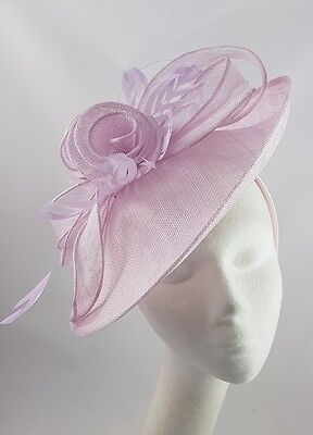 Lilac Purple Hat Fascinator Disc Ascot Wedding Mother of the Bride Occasion