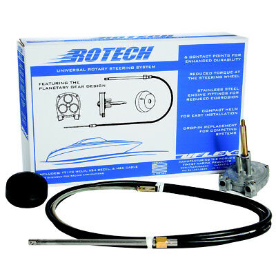 UFlex Rotech 15' Rotary Steering Package - Cable, Bezel, Helm [ROTECH15FC]