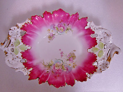 ANTIQUE early 1900's LARGE HAND PAINTED CERAMIC OR PORCELAIN BOWL