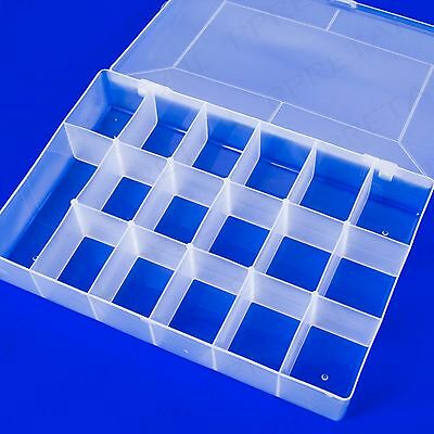 LARGE 17 SLOT ORGANISER STORAGE BOX Hobby Jewellery/Parts/Beads/Charms/Buttons