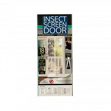 Insect Screen Door with Magnetic Closure (White)