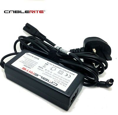 19v samsung ue32j4510ak smart led tv Power supply adapter with UK mains cable